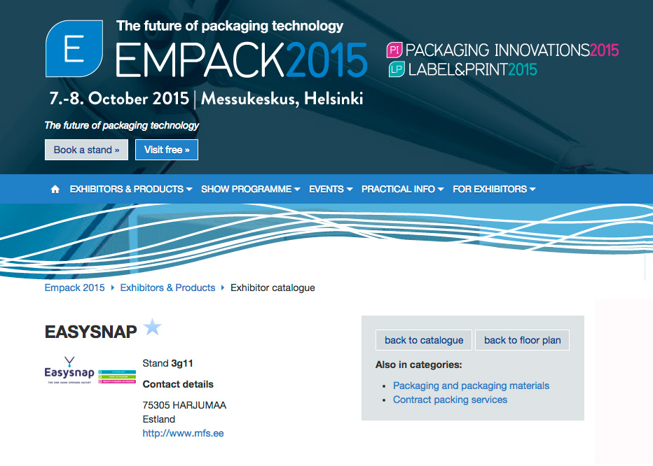 Empack - 2015 - Easysnap - The One Hand Opening Unit Dose