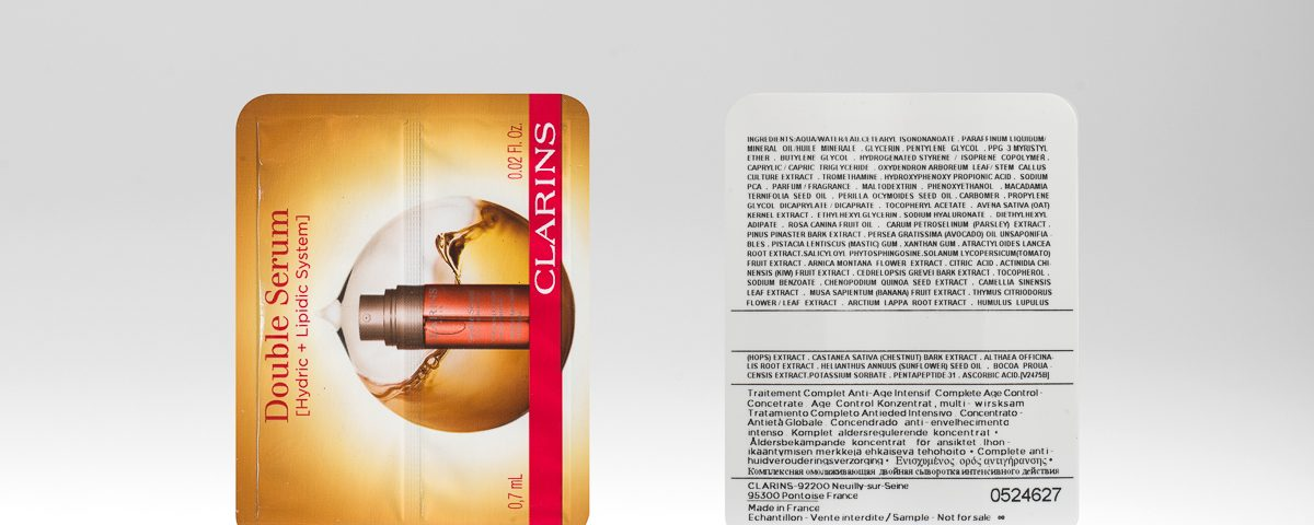 Clarins Double Serum Easysnap double pouch