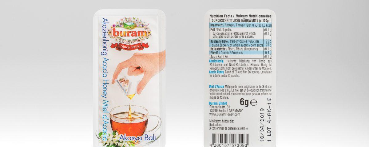 Buram Honey Easysnap Packaging