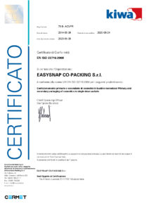 easysnap uni en iso certificate
