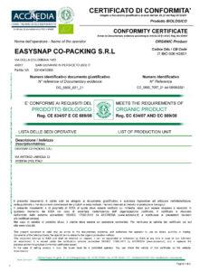 Easysnap ICEA Accredia Sustainability